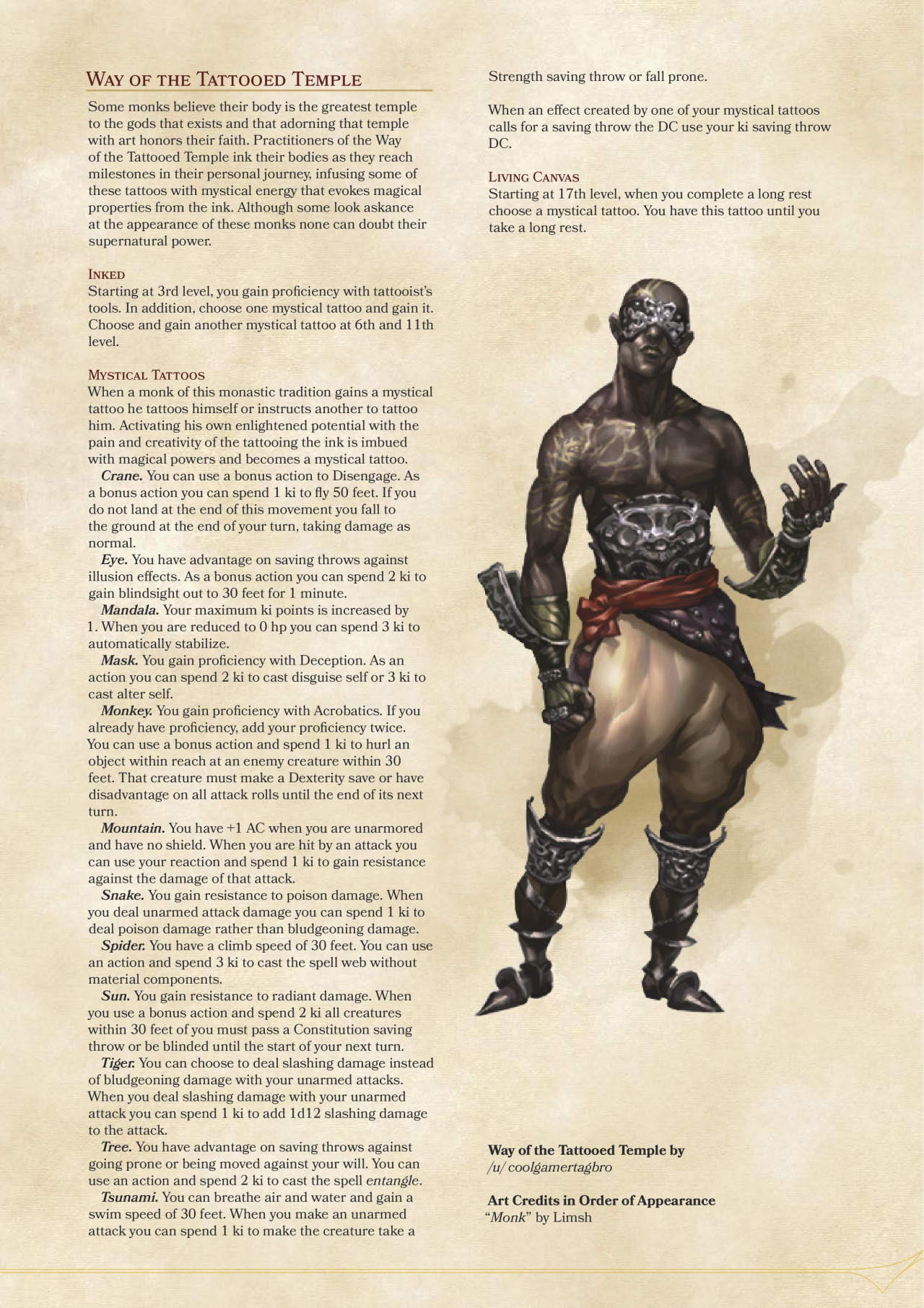 5e monk guide Well hello there everyone, it's minoke here, wanting to attempt to make a collection of class guides for d&d beyond, as well as maybe some.